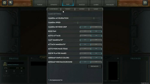 DotA 2 Game Setting